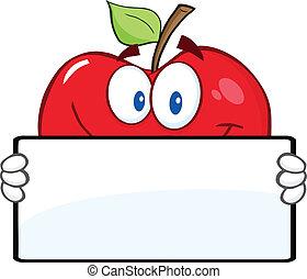 旗, アップル, 赤, 保有物