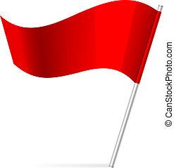 旗, ベクトル, イラスト