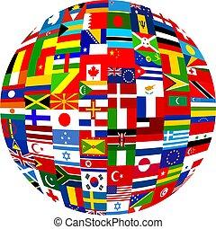旗, 地球