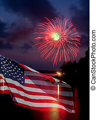 旗, 花火, アメリカ人