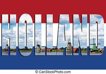旗, 風車, オランダ