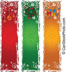 旗, 3, 縦, クリスマス