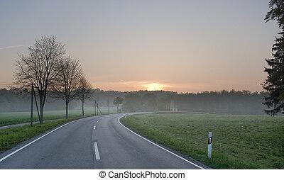 日の出, 道