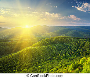 日当たりが良い, mountain., 朝