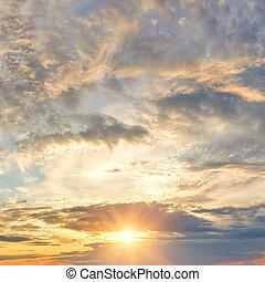 日没, 劇的な 空