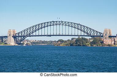 日, シドニー, 青, 港ブリッジ
