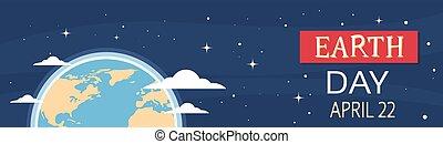 日, 夜, 横, 地球, 旗, 地球, 光景, 4 月, 休日, 紋章, 世界, 保護, 生態学的, 国民, 概念