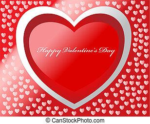 日, 幸せ, カード, 心, ベクトル, バレンタイン, effects.