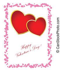 日, 缶, テキスト, card., あなたの, 変化しなさい, 単純である, バレンタイン, あなた, design.