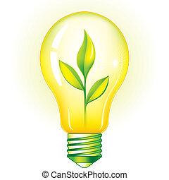 明るい緑, 電球