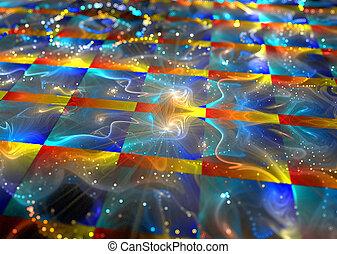 明るい, boke, イラスト, 背景, フラクタル, 細胞