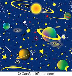 星が多い, 夜