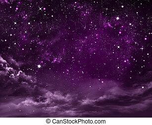 星が多い, 抽象的, 空, 背景