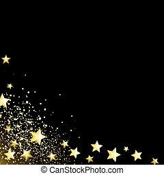星が多い, 黒い背景