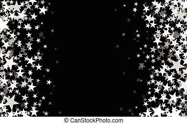 星が多い, 黒, バックグラウンド。