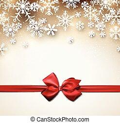 星が多い, ribbon., クリスマス, 背景