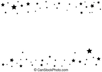 星の道, 優雅である, 黒い背景, 白, 射撃