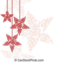 星, クリスマス装飾, 赤