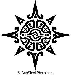 星, 太陽, シンボル, mayan, incan, ∥あるいは∥