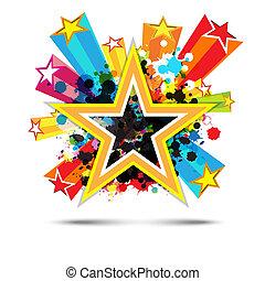 星, 抽象的なデザイン, 背景, 祝福