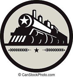 星, 機関車, 列車, レトロ, 円, 蒸気