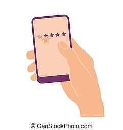 星, 2, 手, 電話, 保有物, 痛みなさい