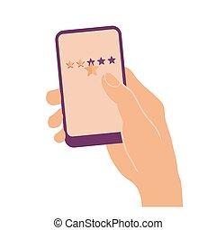星, 3, 手, 電話, 保有物, 痛みなさい