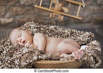 映像, おもちゃ, 部屋, 睡眠, 赤ん坊, 大丈夫です