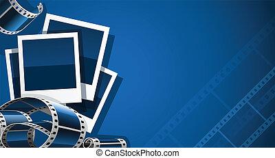 映像, セット, ビデオ, フィルム, 写真