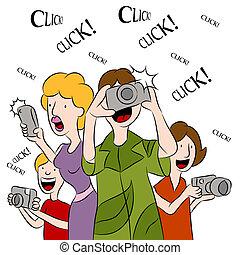 映像, 取得, 人々