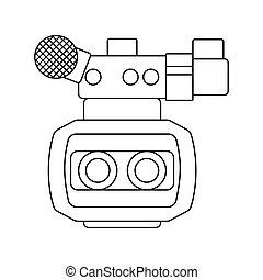 映画カメラ, 3d, アイコン