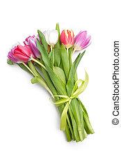 春の花, 花束, チューリップ