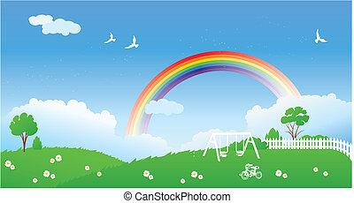 春現場, 虹