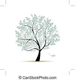 春, デザイン, 花, 木, あなたの