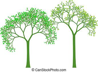 春, ベクトル, 木