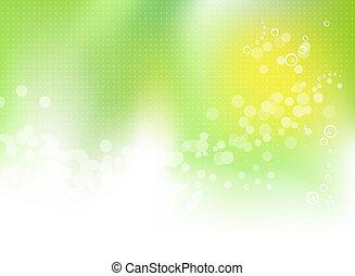 春, 抽象的, 緑の背景