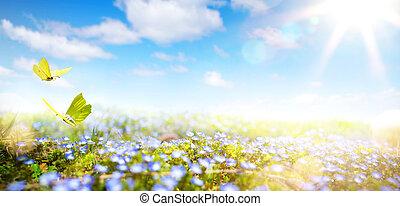 春, 新たに, 背景, イースター, 花