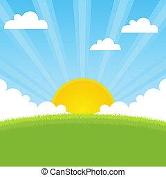 春, 日光, 風景