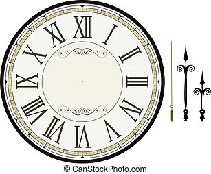 時計, テンプレート, 顔