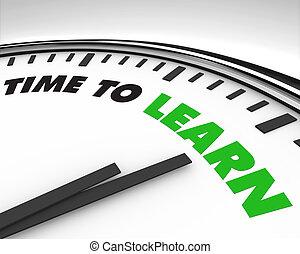 時計, -, 時間, 学びなさい