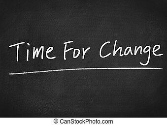 時間, 変化しなさい