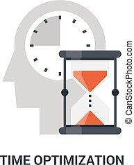 時間, 概念, optimization, アイコン