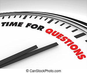 時間, -, 質問, 時計