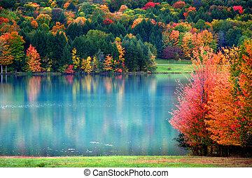 景色がよい秋, 風景