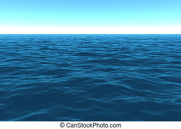 景色, 日中, 海洋