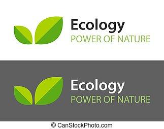 暗い, -, バックグラウンド。, ロゴ, 葉, 隔離された, アイコン, 自然, 白, 有機体である, product., イラスト, エコロジー, 緑