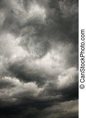 暗い, 嵐, clouds.