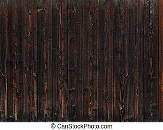 暗い, 木, 古い, 手ざわり, 背景