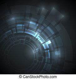 暗い 青, 抽象的, テクニカル, 背景