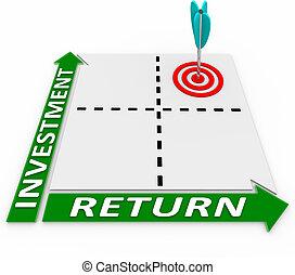 最大にしなさい, リターン, マトリックス, あなたの, 矢, 投資